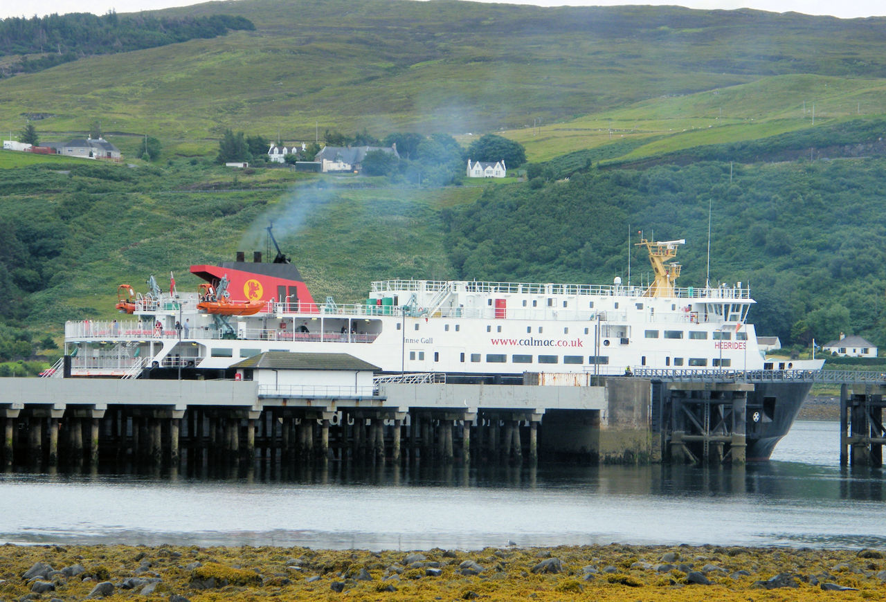 Commerce Day Ferry Ferry Boat Ferry Port Ferry Terminal Island Economy Isle Of Skye No People Outdoors Port Scotland Ship Transportation Uig Uig Harbour