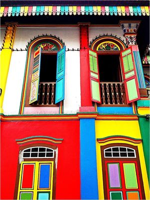 Colours at Little India, Singapore by Astrokrypt
