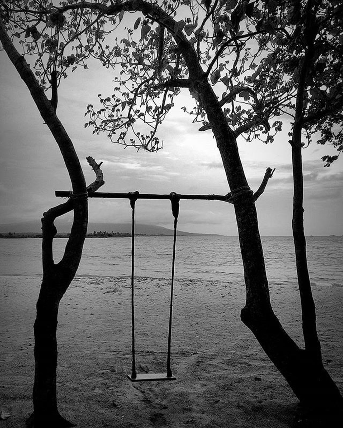 Lonely swing Swing Ayunan Beach Kalianda Eltyresortkrakatoa Lampung INDONESIA 1000kata Indonesiaplayground Natgeotravel Asiangeographic Asuszenphone5 Instalike Instagram Instagood Photooftheday