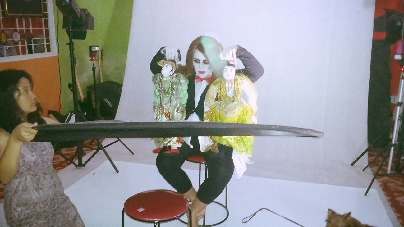 Behindthescenes Saw That's Me Photography Puppets Doll Holloween Sue_nandar_htet Diva_sndh
