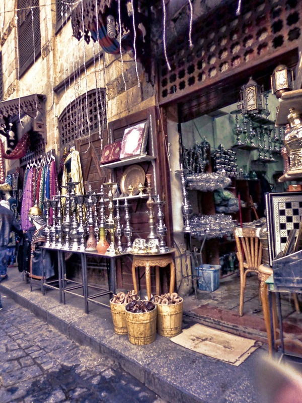 Shop Hookah Sheesha Fatimid Cairo Cairo Egypt Historical Historical Place City Antique Shop Large Group Of Objects Khan_alkhalili Cultures Day Store Outdoors