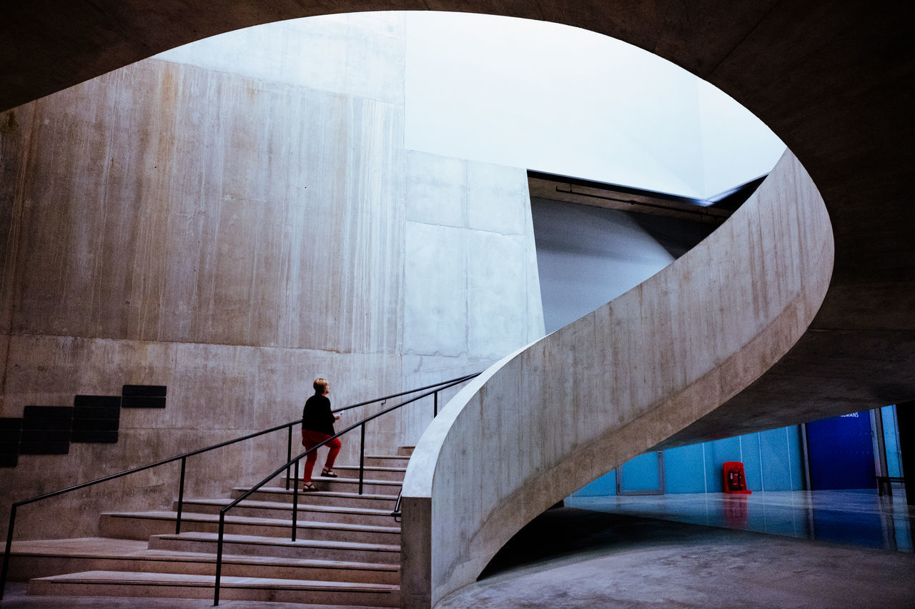 Architecture Architecture Art Gallery City Concrete Geometric London One Person Staircase Steps Steps And Staircases Tate Modern Tate Modern Switch House The Architect - 2017 EyeEm Awards