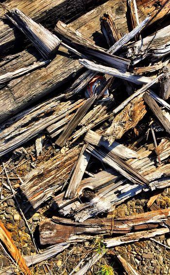 Wood Railroad Railroad Ties Looking Down