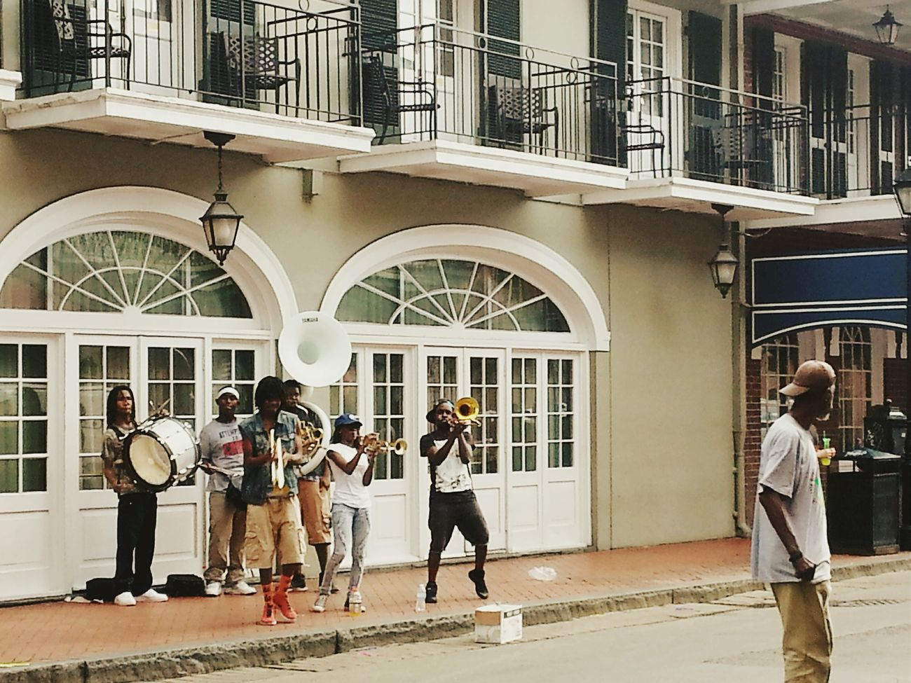Jazz New Orleans Historical Windows Jazz Band Instruments Trumpet Tuba