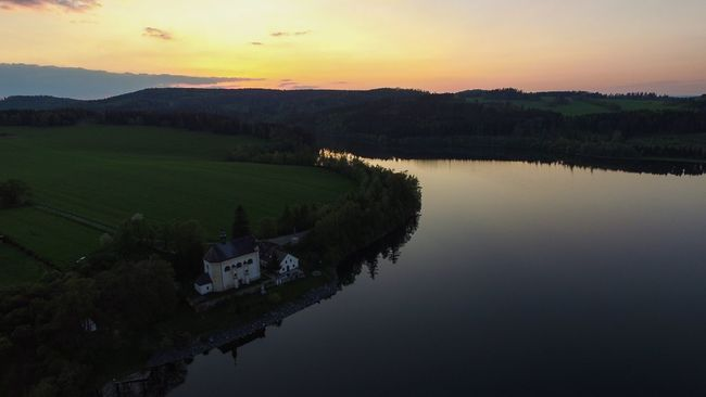 The Essence Of Summer Lake Beautiful Nature Blue Sky Czech Aerial Shot Dji Phantom DJI Phantom 3 Advanced Sunset