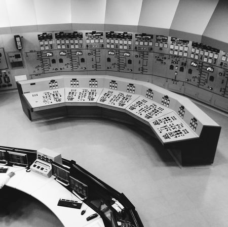 Black And White Control Board Control Panel Control Room Dials Technology
