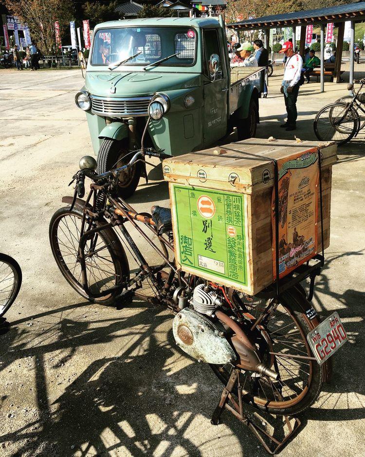 茶箱が渋い モペッド Moped Daihatsu ダイハツ 三輪トラック Truck Threewheeler 茶箱 Teachest