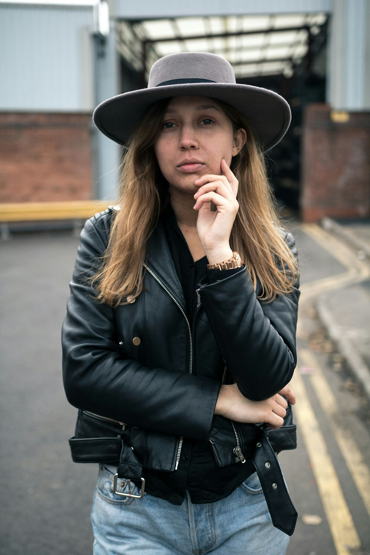 Stand and stare pt 1. Portraits_ig Hat Fashion Young Adult Women Front View City People Adult Only Women One Woman Only Leisure Activity Adults Only One Person Young Women Day Outdoors Musician Fashion Portrait Close-up
