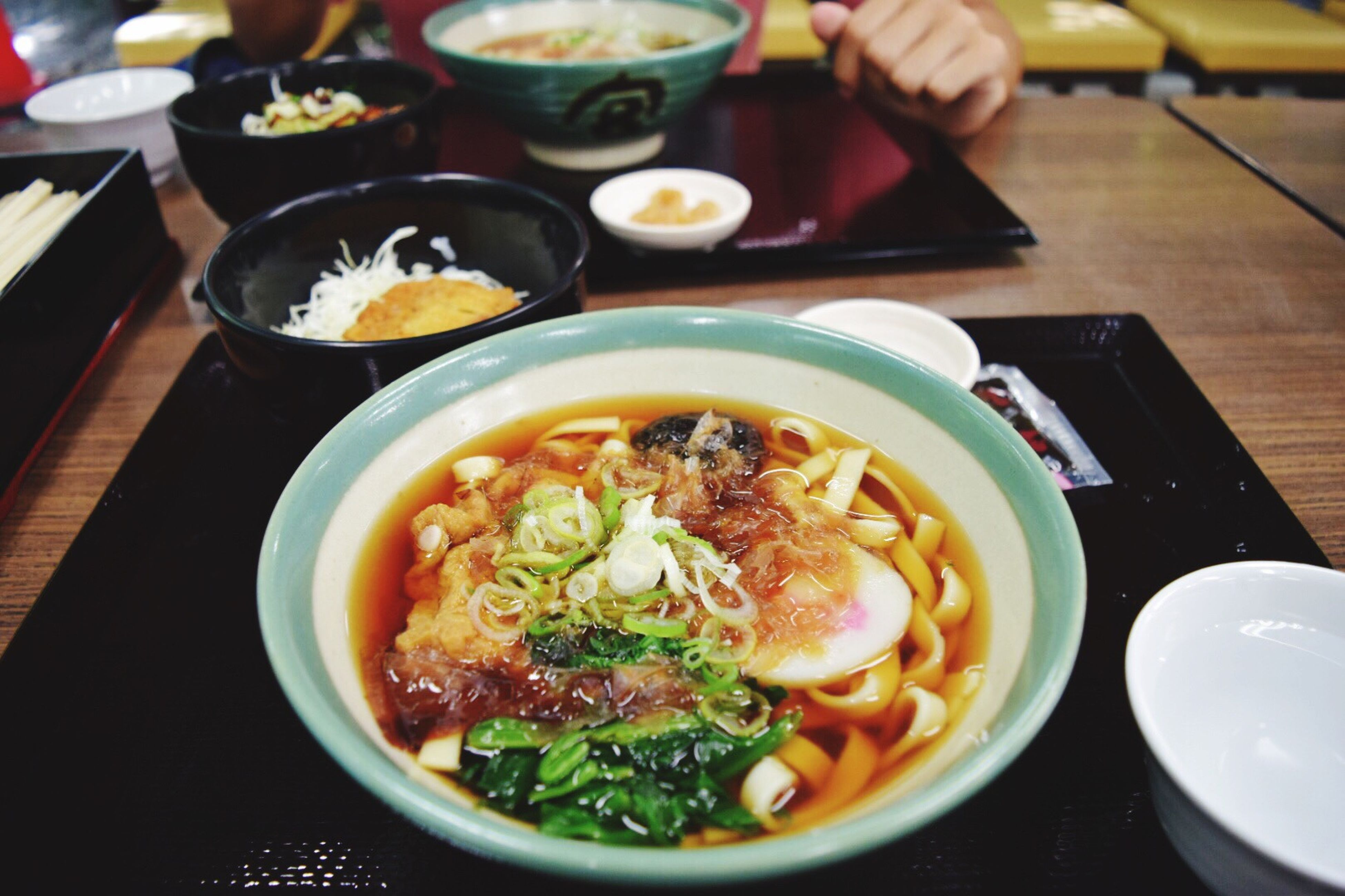 food, food and drink, ready-to-eat, freshness, serving size, plate, healthy eating, indoors, soup, healthy lifestyle, table, bowl, noodle soup, human hand, one person, close-up, human body part, day
