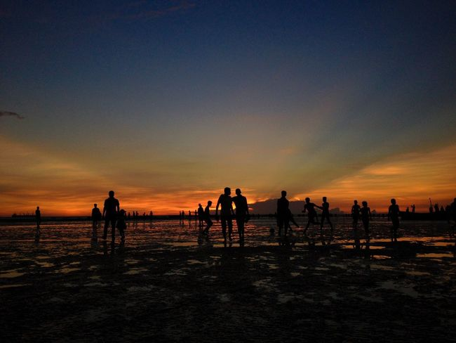 People And Places People Together Sunset Vacations Silhouette Beach Scenics Horizon Over Water Orange Color Dramatic Sky Sky Leisure Activity Travel Destinations Water Tourist Tourism Sea Bangladesh Chittagongbeach Bangladesh 🇧🇩 Twilight