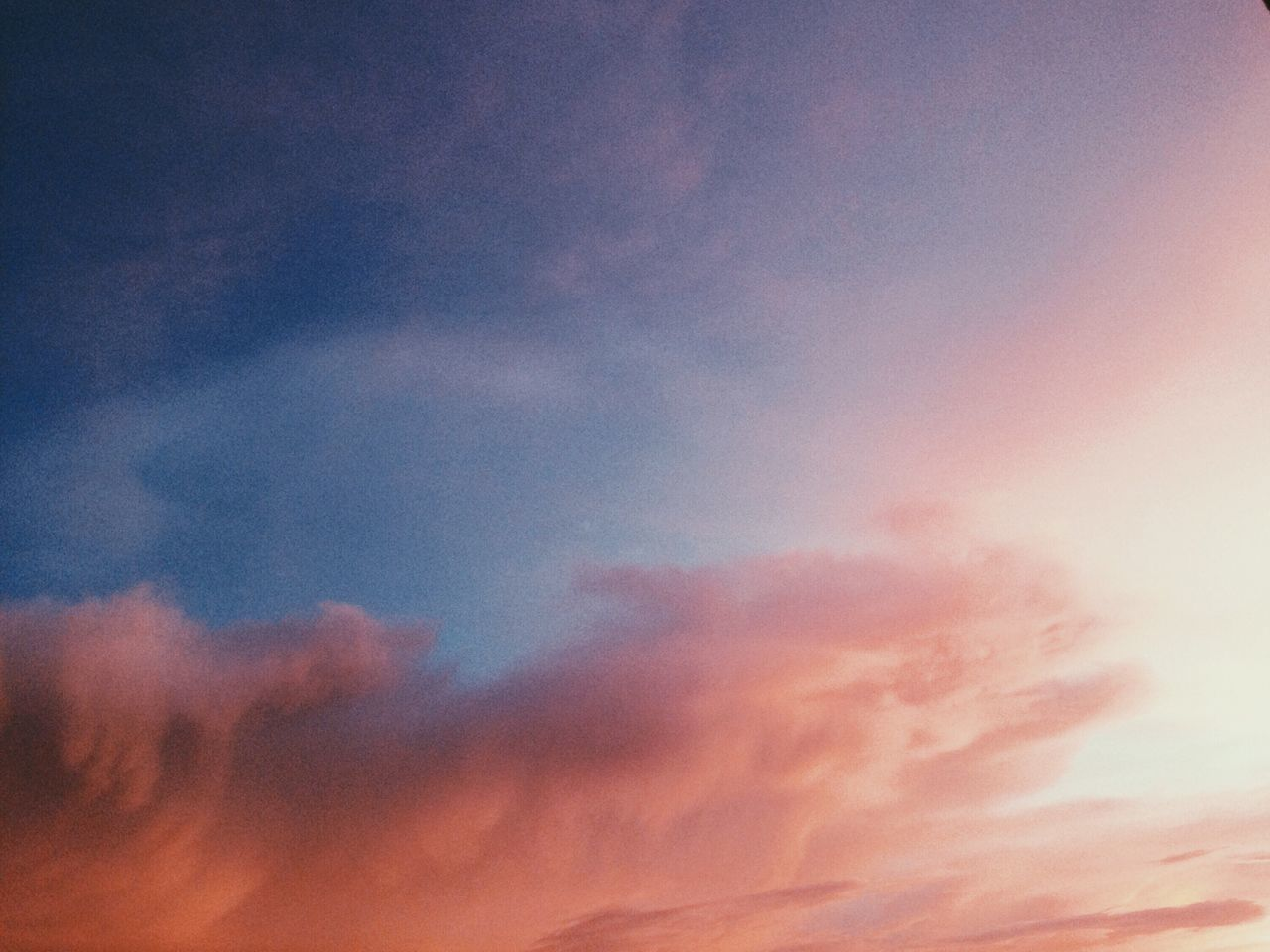 sky, beauty in nature, nature, low angle view, sunset, cloud - sky, scenics, multi colored, sky only, tranquil scene, no people, tranquility, outdoors, abstract, backgrounds, day