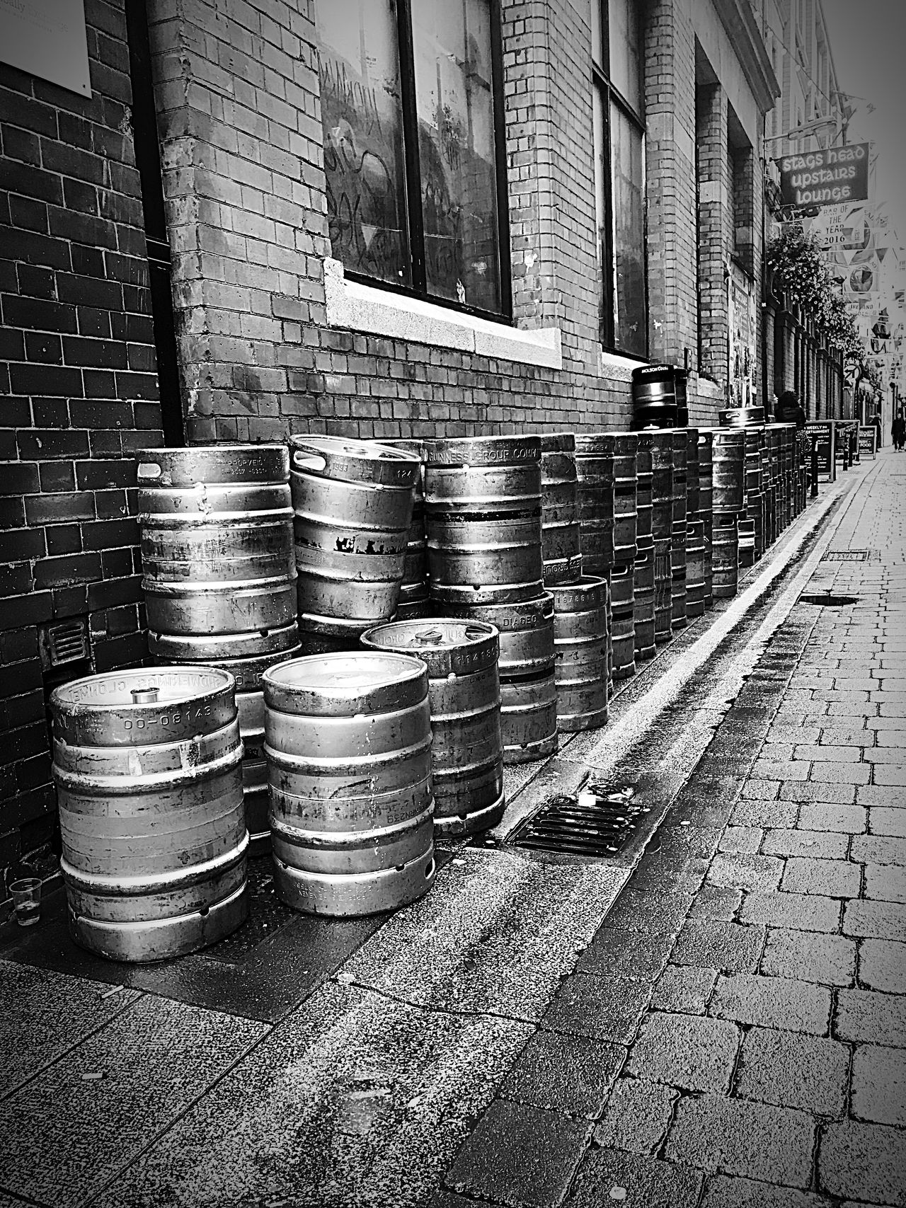 The Day After Dublin Street Photography Streetphotography Barrel Stack Day No People Industry Outdoors Beer Prospective