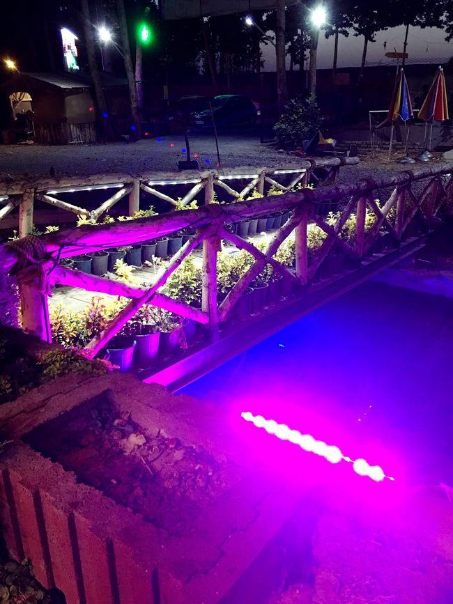 Light And Shadow Lights Purple Bridge Bridge - Man Made Structure Taking Photos