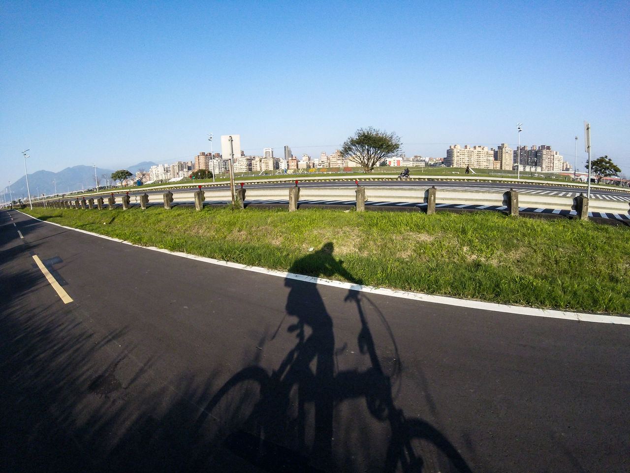 Bike Biking City Life Clear Sky Daily Project Day Exercise Exploring EyeEm Gallery Grass Nature Outdoors Real People Riverside Road Shadow Sunlight Taking Photos The View And The Spirit Of Taiwan 台灣景 台灣情 Gopro Gopro Session Bicycle Let's Go. Together.