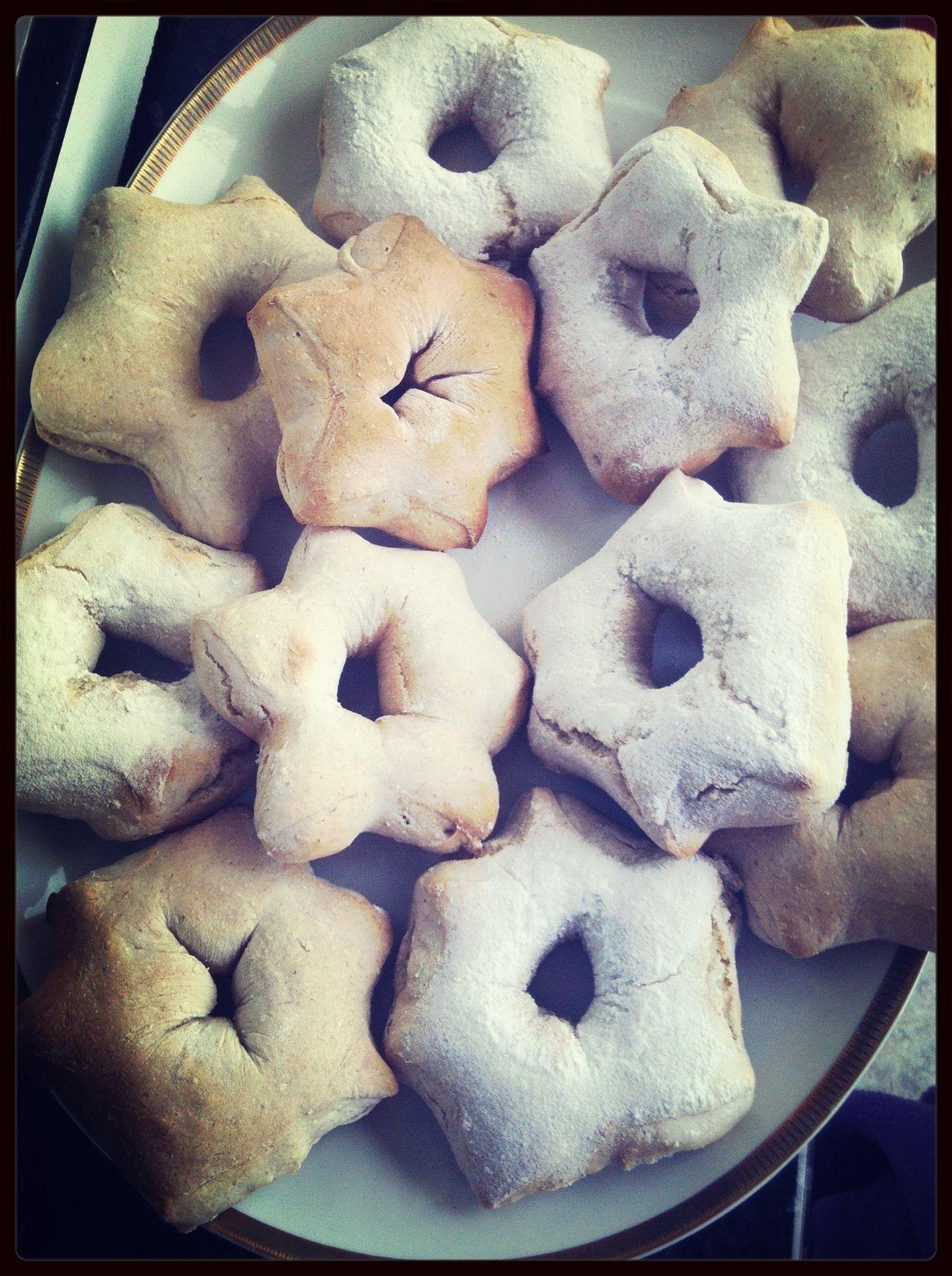 Estrellas de pan para la cena de noche buena :)