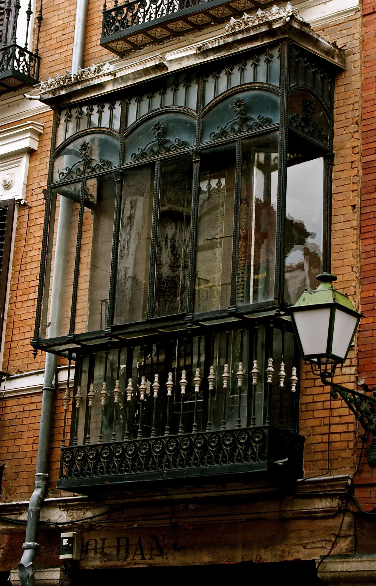 Alcalá De Henares. (Madrid) Architecture Balcony Black Color Brick Building Building Building Exterior Built Structure City Decoration Elegance Decoration Façade Glasses Iron Kvission Low Angle View Mónica Nogueira. Nostalgic  Outdoors SPAIN Traditional Culture Travel Destinations Vintage Decoration Window The Architect - 2016 EyeEm Awards