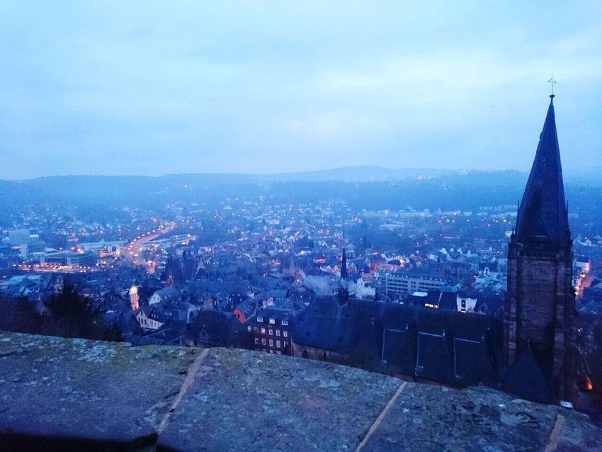 Germany Doitsuland Marburger Schloss Marburg Castle Castle Beautiful Cityscape Favorite Location