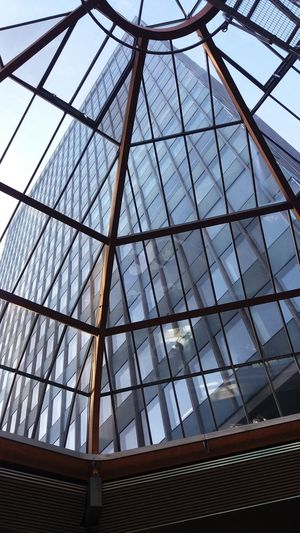 Architecture Built Structure City Glass - Material Glass Building Glass Roof Low Angle View Modern Sky