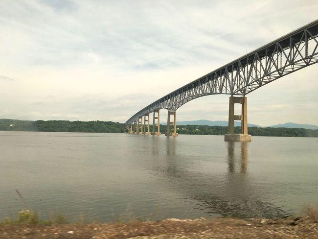 Bridge Architecture Engineering July 2016 USA Train Ride Water