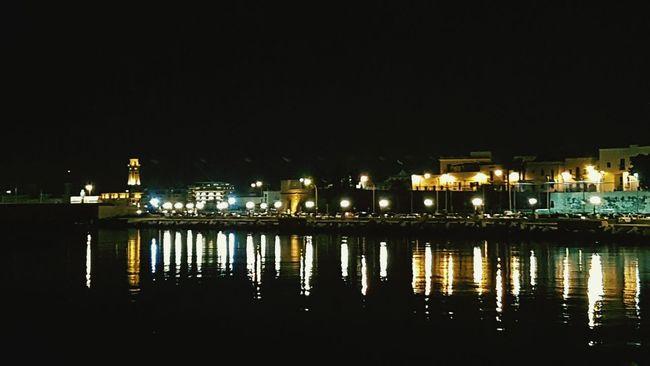 Waterfront Scenics Tranquility Illuminated Night Water