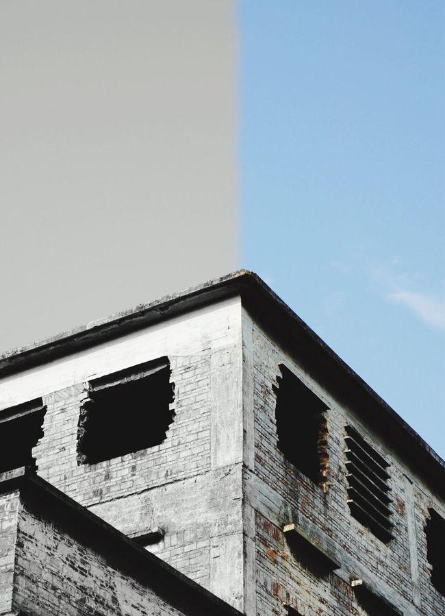 Half Half Huadu River Park Previous Cement Factory Blue Sky Sunny Day Factory Building Urban Landscape Construction