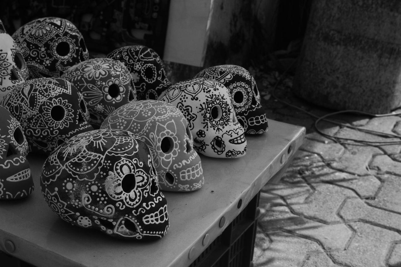 """Día de Muertos"" Day Dead DeadDay💀 Mexico Mx  No People Skulls Skulls And Bones Table Tulum , Rivera Maya."