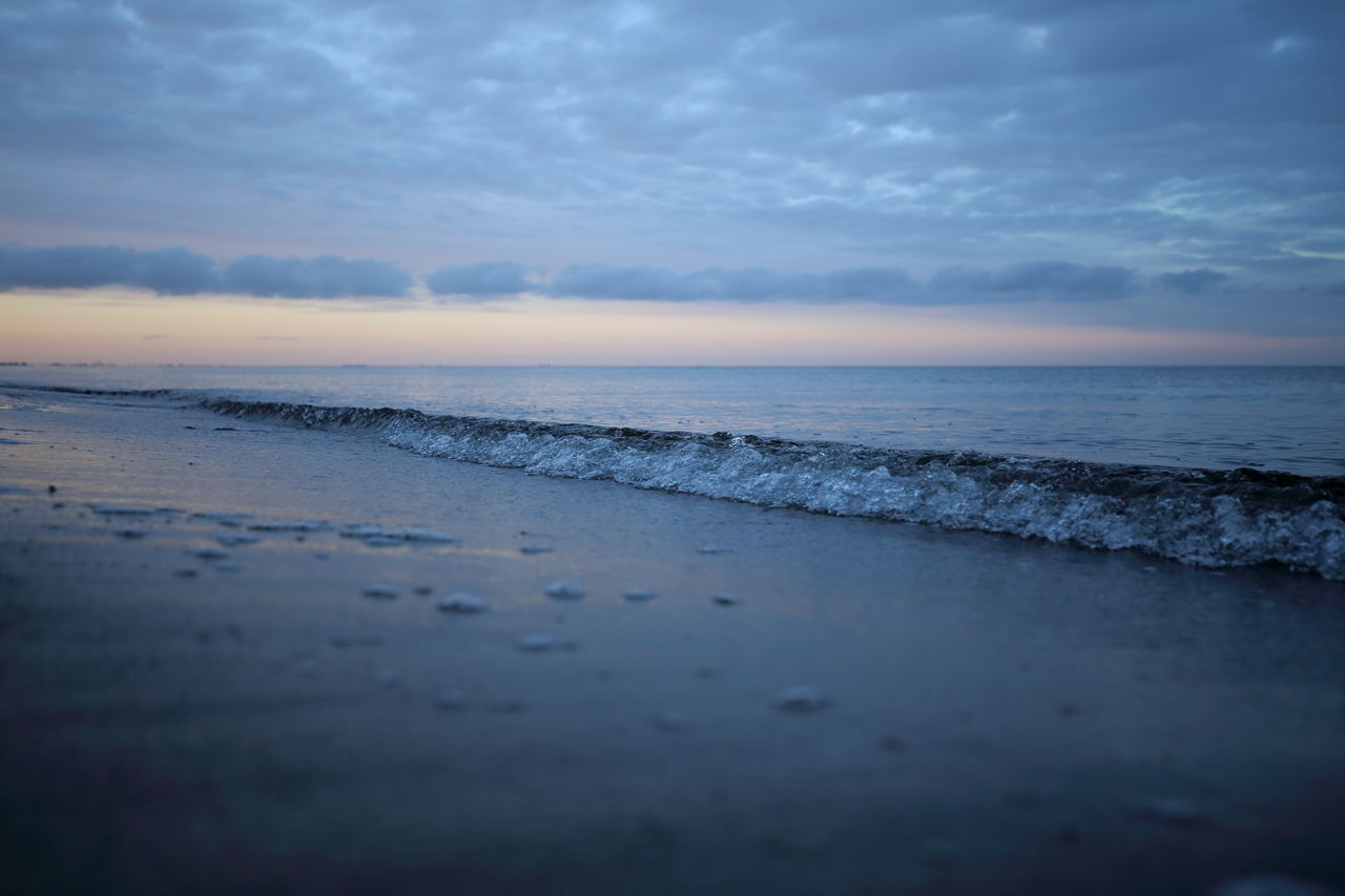 Baltic Sea Beach Betterlandscapes Blue Hour Cloudscape Diagonal Dusk Enjoying Life Eye4photography  EyeEm Best Shots EyeEm Nature Lover Horizon Over Water Landscape Lines Natural Pattern Nature Nightfall Ocean Sand Sea Surge The Great Outdoors - 2017 EyeEm Awards Tranquility Water Wave