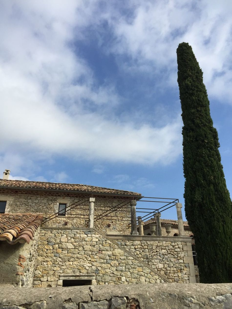 France Occitanie Gard Lussan Village Village Life Enjoying Life Architecture Building Exterior Built Structure Sky Cloud - Sky Low Angle View House Day No People Outdoors Tiled Roof  Nature