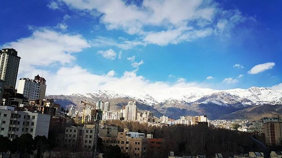 Once upon a time there was a blue thing called sky... Tehran City Alborz Alborzmountain Blueskye Blueskyblue