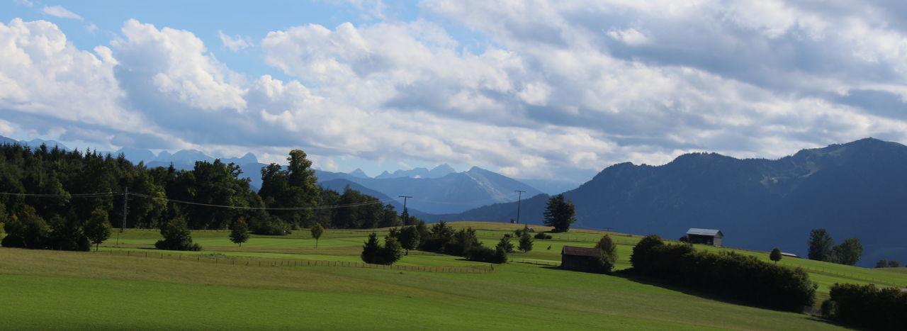 Taken Through A Moving Bus Window Fromfussen, Germany To Salzburg,austria