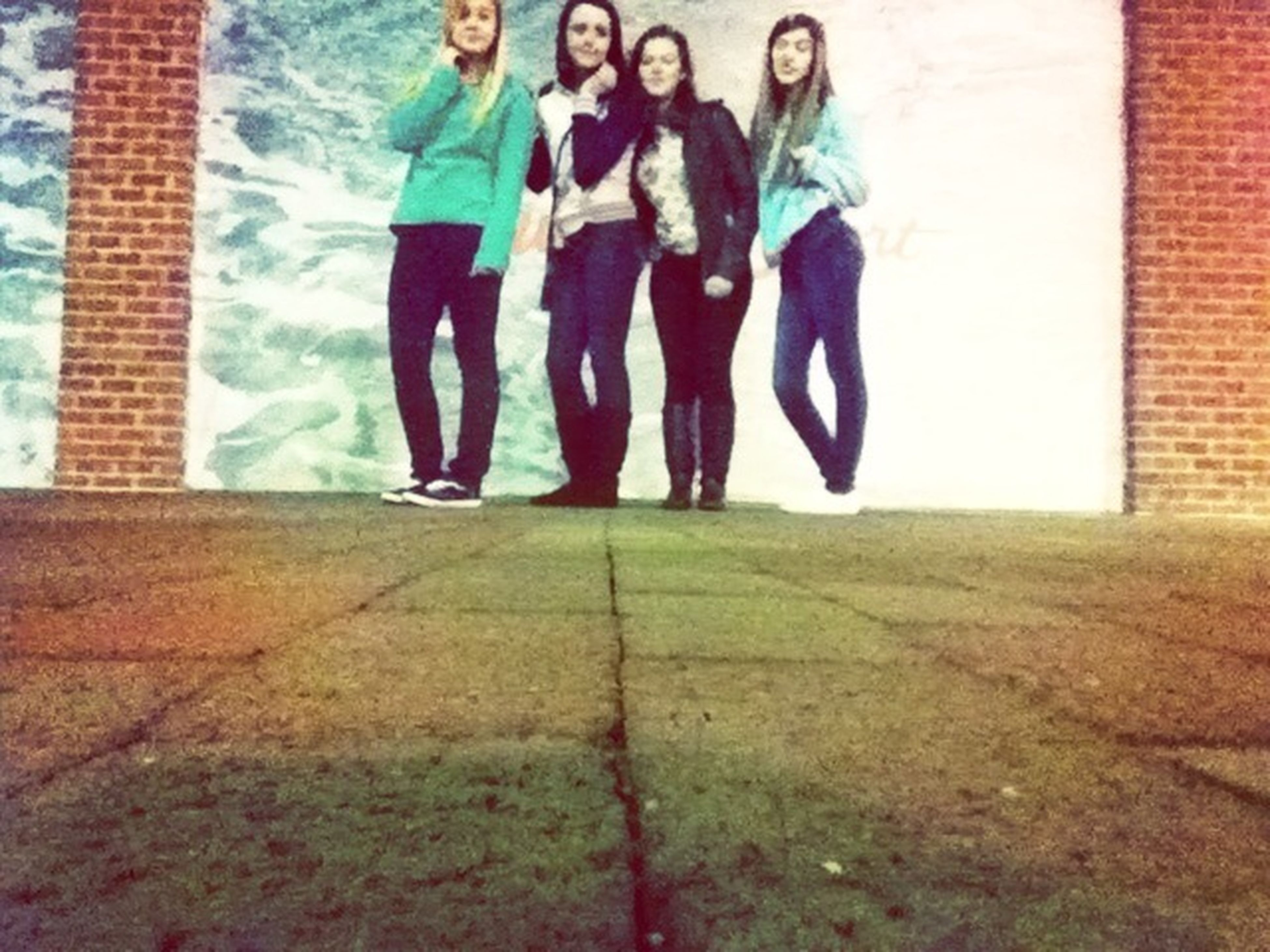 Last Night Was The Best Night. (: Autumn, Me, Taylor, And Taylor.