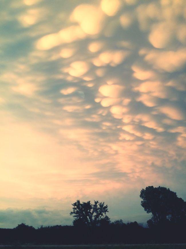 Sunset Sky Cloud - Sky Dramatic Sky Cloud Mammatus Clouds Wisconsin Weather Photography Weather