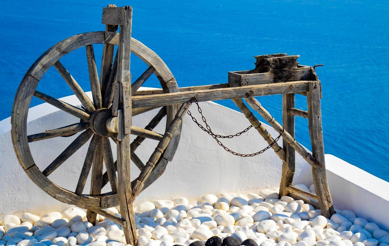 #santorini Blue Day No People Old-fashioned Sea Sky Water Wood - Material