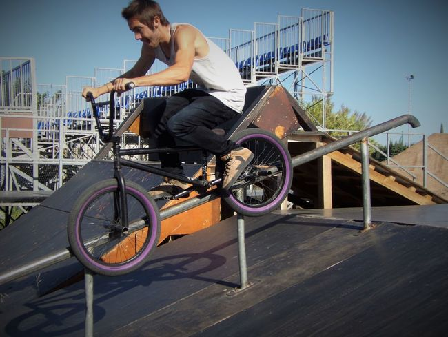Transportation Bicycle Mode Of Transport Land Vehicle Casual Clothing Road Cycling Leisure Activity Full Length Clear Sky Riding Outdoors Day Person City Life Bmx  Bmx  Bmx  360 Cyclist Trix