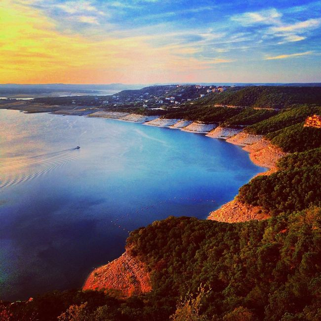 Overlooking Lake Travis from Mt. Bonell