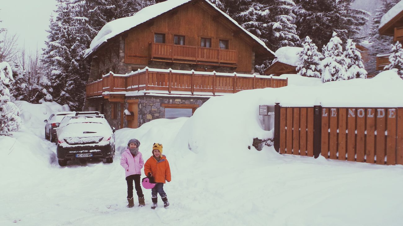 It's Cold Outside Snow Enjoying Life Kids Chalet Winter Cold Cold Temperature Meribel Boy And Girl