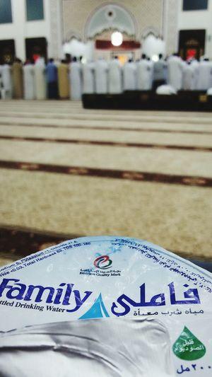 Waterbottle Thristy Tarawih Praying Mosque Masjid UAE