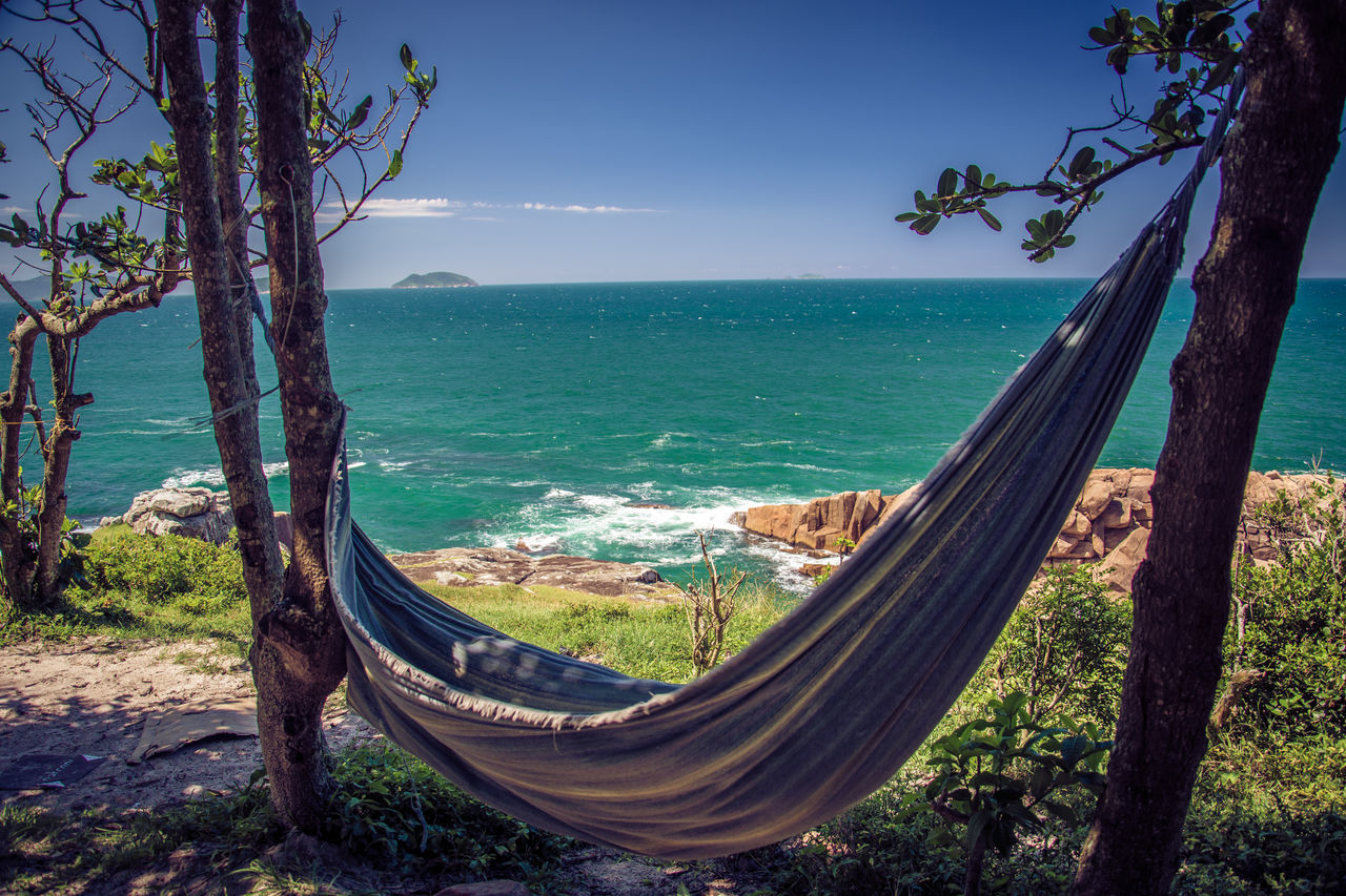 Vale da Utopia - Praia do Maço Beach Brasil Day Hammock Horizon Over Water Nature No People Ocean Outdoors Palhoça Paradise Pirate Praia Sand Santacatarina  Scenics Sea Sky Southamerica Travel Destinations Tree Tropical Utopia Vale Water