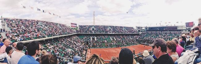IPhoneography ROLAND GARROS Frenchopen Rolandgarros2015 Sun Great Views Great Performance Perfect Day Blue Sky Paris