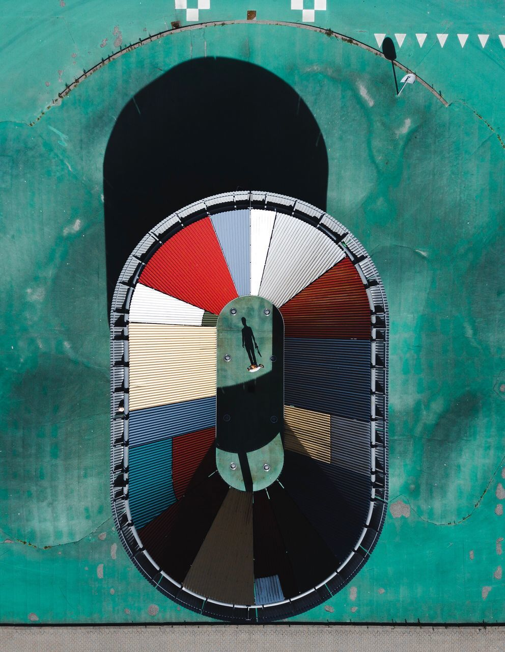 circle, nautical vessel, day, no people, green color, outdoors, ship, built structure, close-up, architecture, water