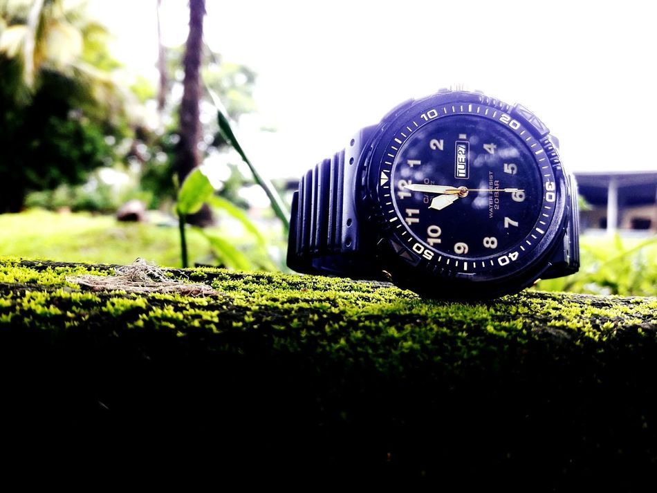 Casio Watch Close-up Day Outdoors Man Made Object No People Round Selective Focus