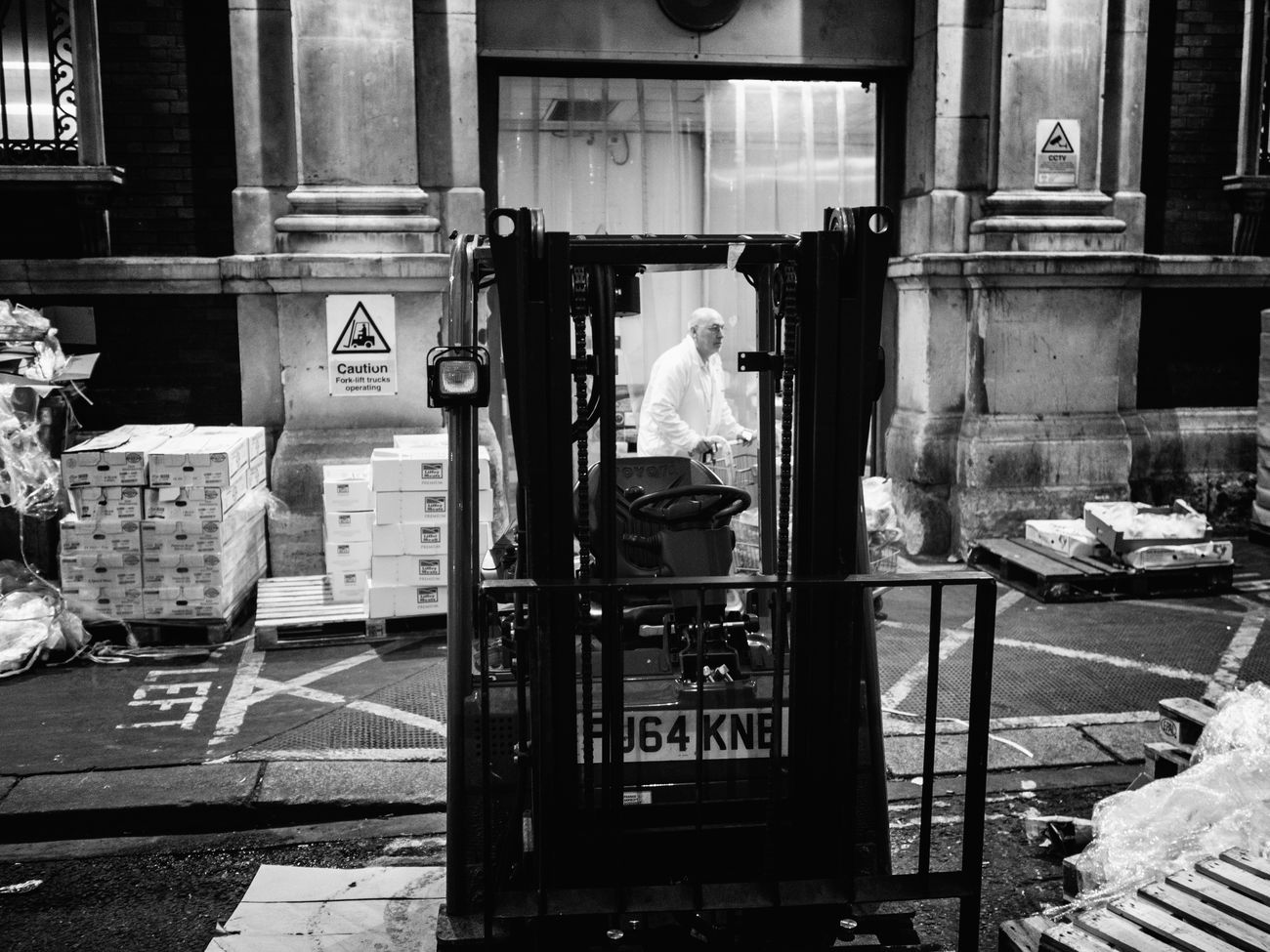 While City Sleeps City Candid Stranger Maxgor Street Smithfield Market Candid Photo Street Photography Olympus Pen F Cıty Rawstreets London Maxgor.com 35mm People Night Monochrome Photography Blackandwhite Real People One Person