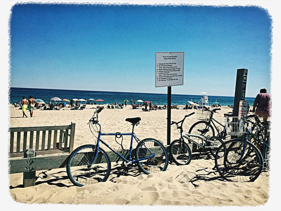 Bicycles Beach Day