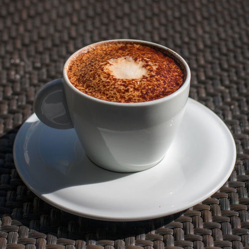 Cup Of Coffee Cappuccino White Cup Coffee Break