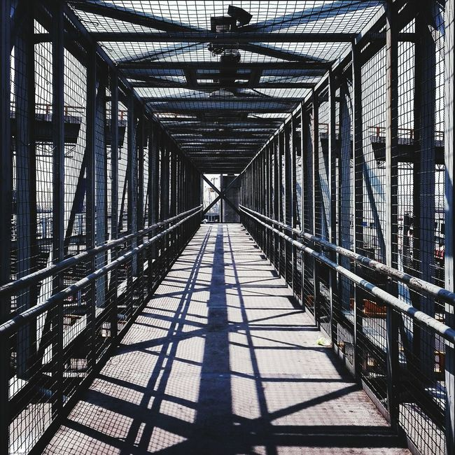 Into the shadows. Bridge Cdmx Shadows Hanging Out Check This Out Mexico Walking Around Stripes Everywhere