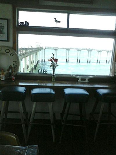 Surf's Up Ocean Beach Pier Ob Pier Cafe On Top Of The Water Post Surf Place To Eat Calming Views Tranquility At Its Finest Blue Skies Blue Seas Cozy Cafe On The Ocean