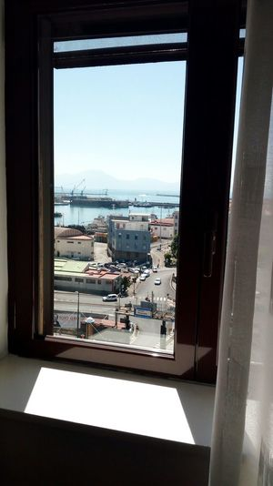 Window Cityscape No People Built Structure Indoors  Architecture Day City Water Building Exterior Sky Napoli
