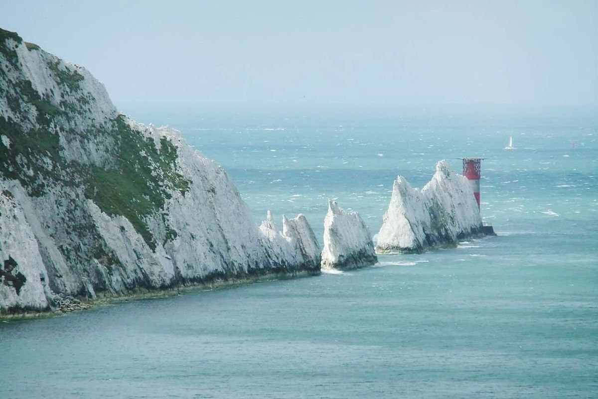The Needles Rocks Sea And Sky Landscape Landmarks Learn & Shoot: Layering Layers And Textures