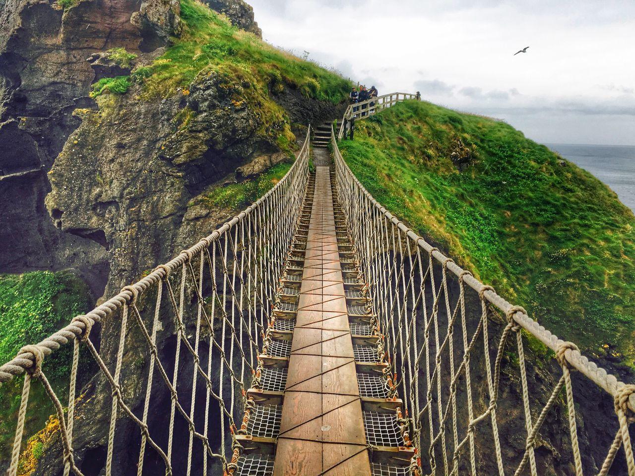 """""""Long way down"""" man made rope bridge. Bridge - Man Made Structure"""