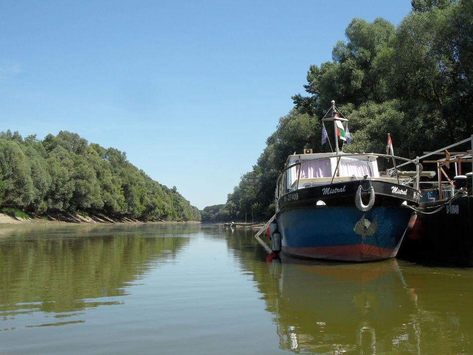 Blue Blue Sky Boat Canal Hungary Nature Nature Outdoors River Sio Sky Water